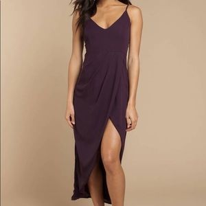 NEW Tobi Plum Slit Dress